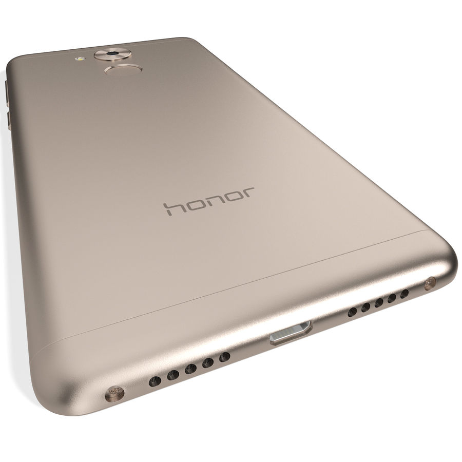 Honor 6C Gold royalty-free 3d model - Preview no. 7