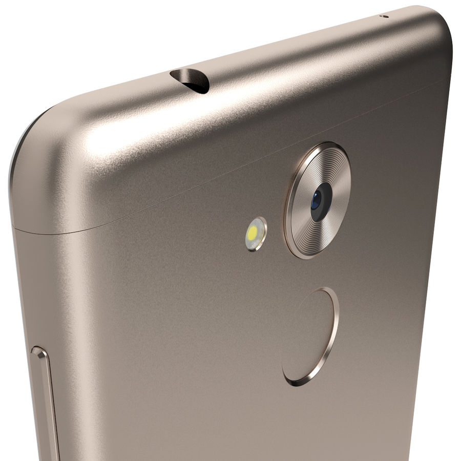 Honor 6C Gold royalty-free 3d model - Preview no. 6