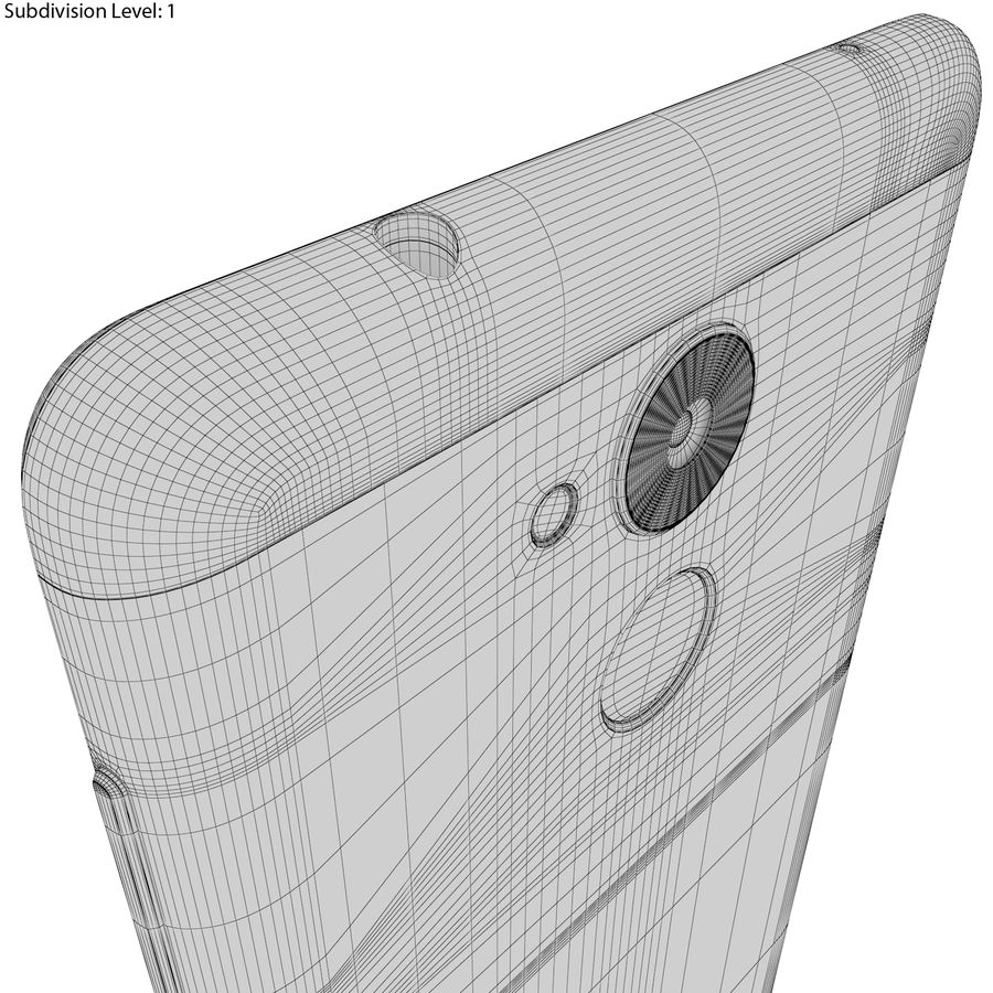 Honor 6C Gold royalty-free 3d model - Preview no. 22
