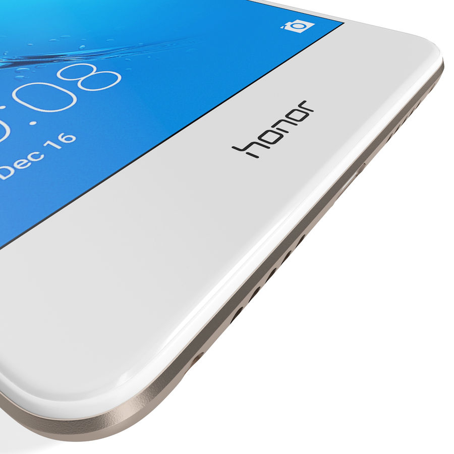 Honor 6C Gold royalty-free 3d model - Preview no. 16