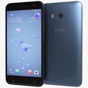 HTC U11惊人银 3d model