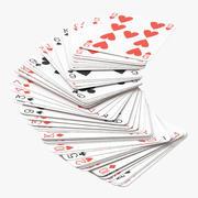Speelkaarten - Rood - Deck 05 3d model