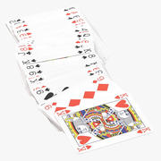 Playing Cards - Red - Deck 06 3d model