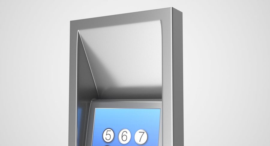 Panel sterowania windą royalty-free 3d model - Preview no. 4