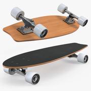 Рыбий хвост Скейтборд Generic 3d model