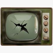 Broken Old TV 3d model