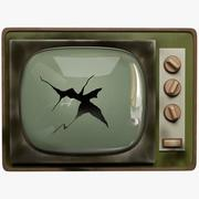 Gebroken oude tv 3d model