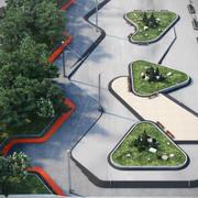 Parc paysage 5 3d model