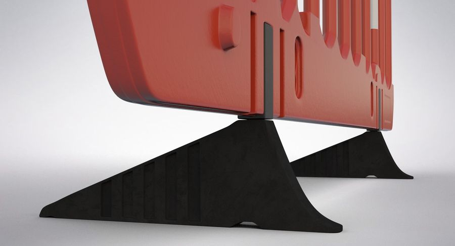 Roadworks Barrier royalty-free 3d model - Preview no. 10