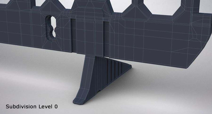 Roadworks Barrier royalty-free 3d model - Preview no. 25