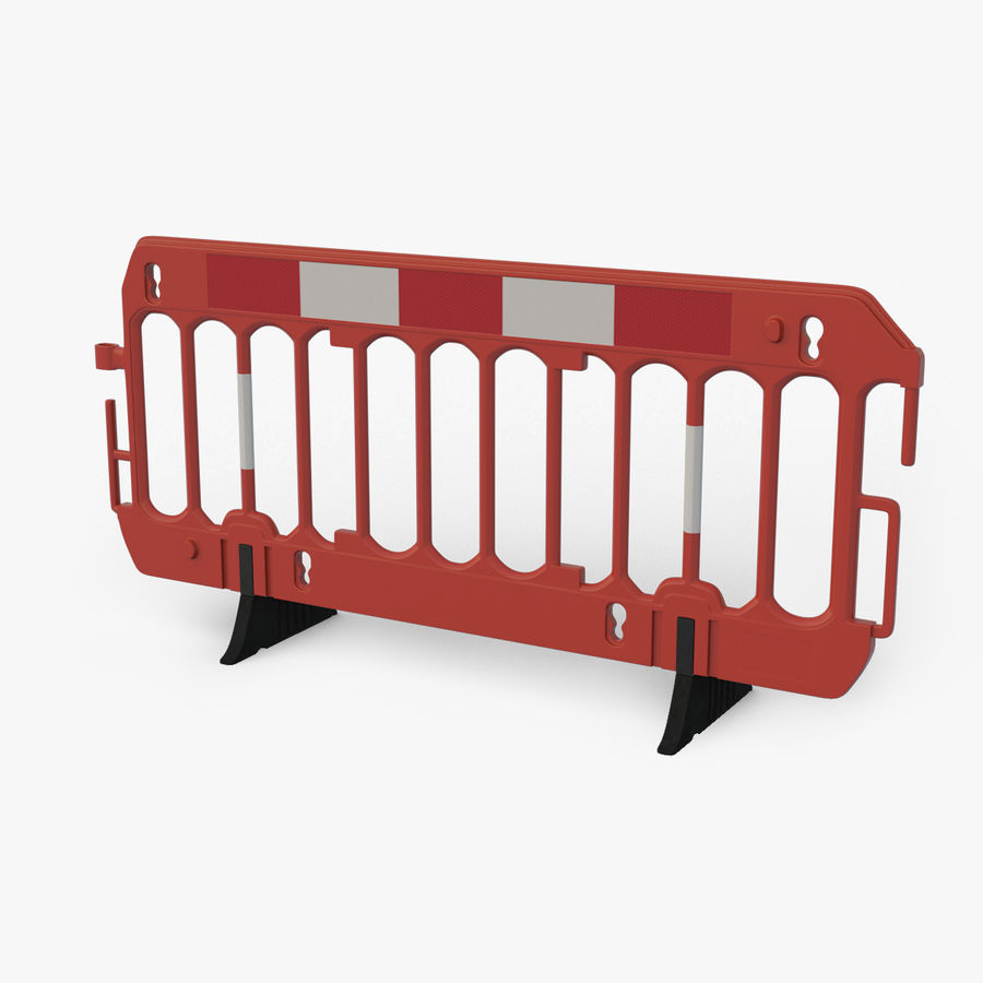 Roadworks Barrier royalty-free 3d model - Preview no. 1