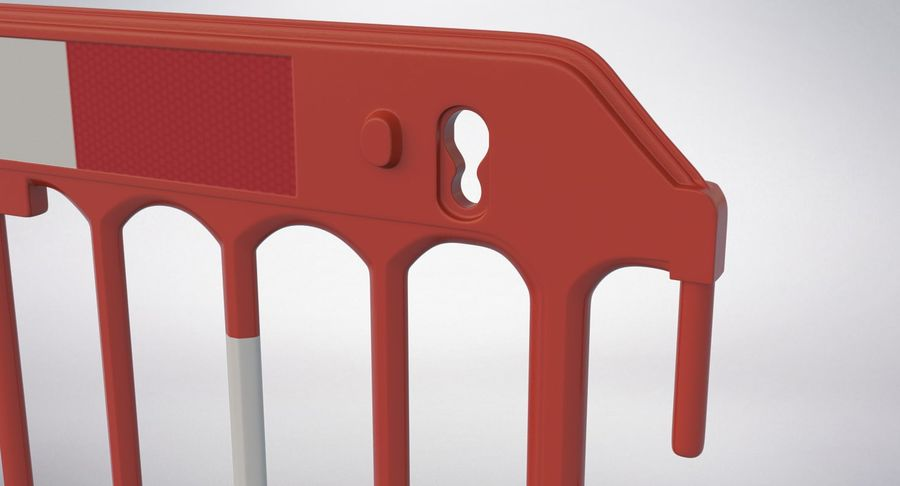 Roadworks Barrier royalty-free 3d model - Preview no. 9