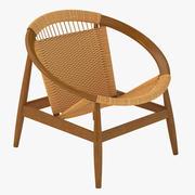 Duńskie nowoczesne krzesło Ringstol autorstwa Illum Wikkelso 3d model