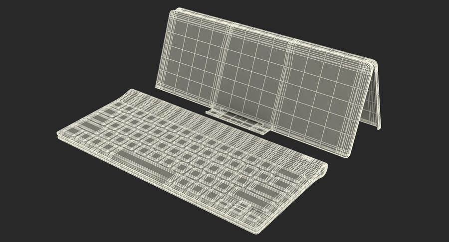 Logitech Tablet Keyboard with Cover 3D Model royalty-free 3d model - Preview no. 22