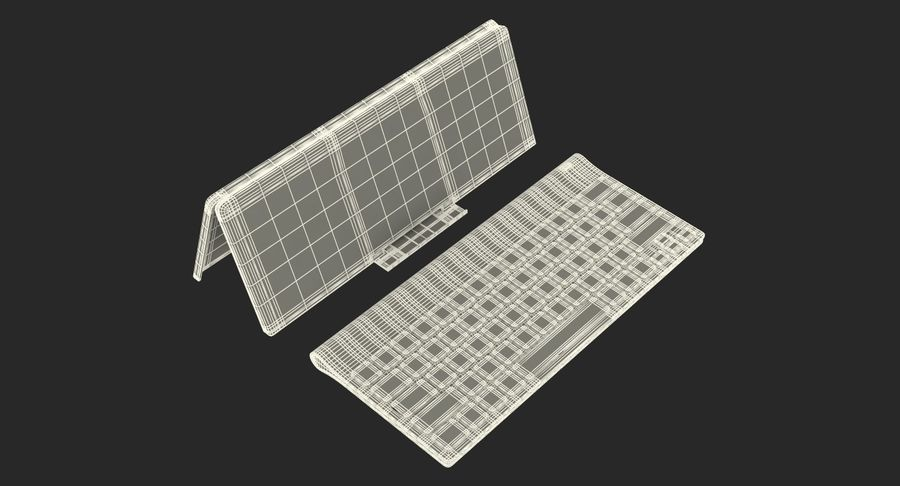 Logitech Tablet Keyboard with Cover 3D Model royalty-free 3d model - Preview no. 20