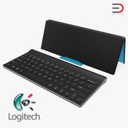 Logitech Tablet Keyboard with Cover 3D Model 3d model