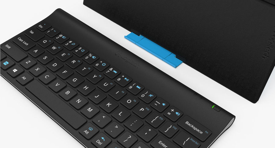 Logitech Tablet Keyboard with Cover 3D Model royalty-free 3d model - Preview no. 11