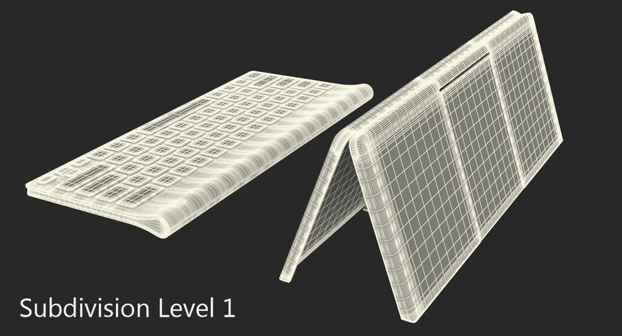 Logitech Tablet Keyboard with Cover Rigged 3D Model royalty-free 3d model - Preview no. 18