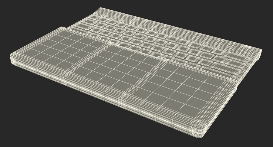 Logitech Tablet Keyboard with Cover Rigged 3D Model royalty-free 3d model - Preview no. 28