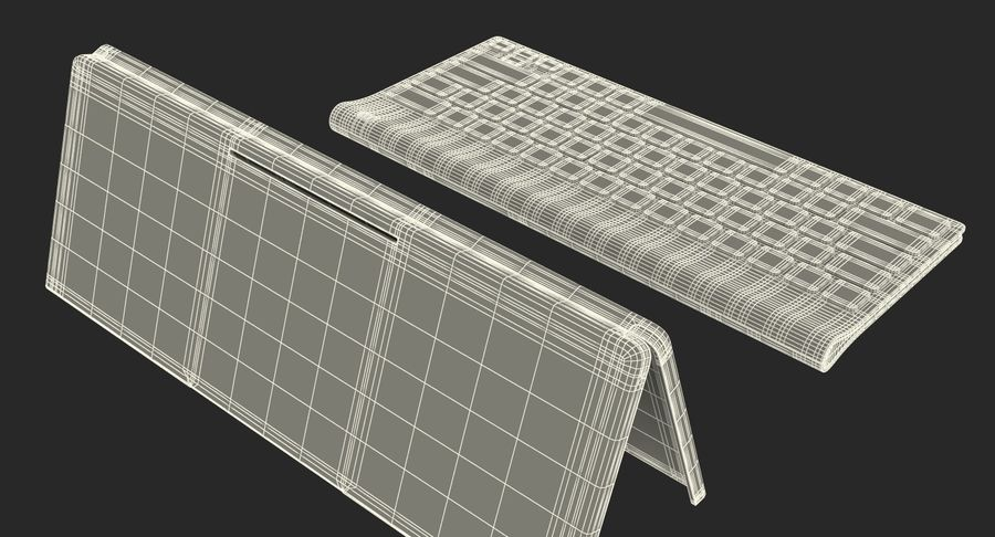Logitech Tablet Keyboard with Cover Rigged 3D Model royalty-free 3d model - Preview no. 23