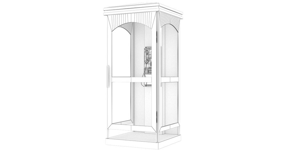 Telephone Box royalty-free 3d model - Preview no. 9