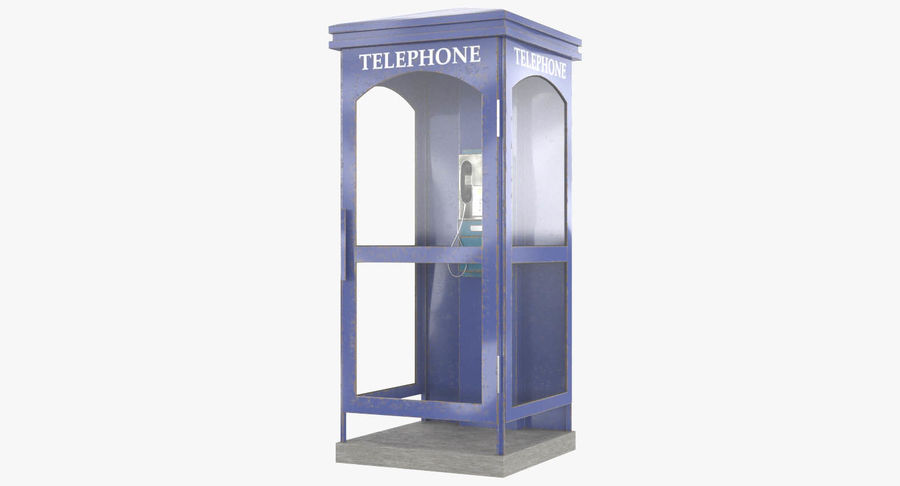 Telephone Box royalty-free 3d model - Preview no. 2