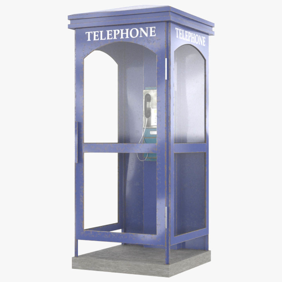 Telephone Box royalty-free 3d model - Preview no. 1
