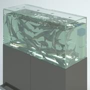 Süpermarkette Balık (Mersin Balığı) Akvaryumu 3d model