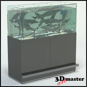 Fish (Sturgeon) Aquarium For Supermarket 3d model