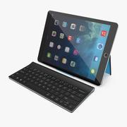 Logitech Tablet Keyboard with iPad Pro 3D Model 3d model