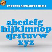 小卡通字母 3d model