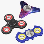 Zestaw Fidget 3D Spinners 3d model