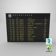 Новая информация о рейсе 3d model