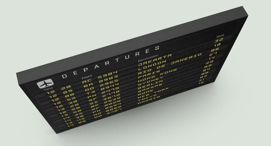 Nieuwe vluchtinformatie tekentekst royalty-free 3d model - Preview no. 8