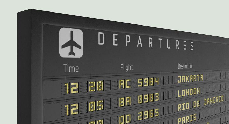 Nieuwe vluchtinformatie tekentekst royalty-free 3d model - Preview no. 9