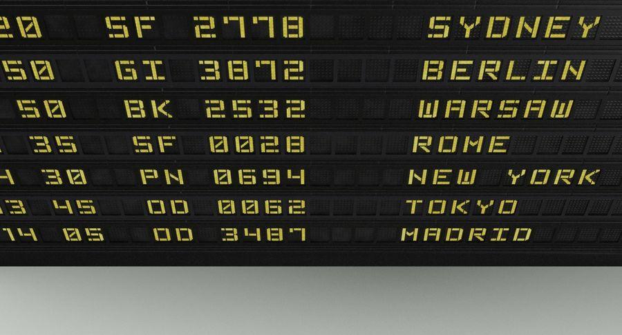 Nieuwe vluchtinformatie tekentekst royalty-free 3d model - Preview no. 10