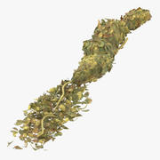 Loose Pile of Marijuana 01 3d model