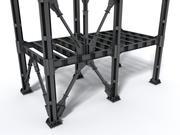 Componenti modulari in acciaio 3d model