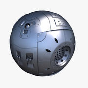 Научно-фантастическая Core Sphere 3d model
