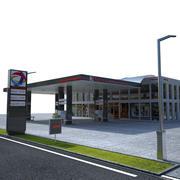 Gas station Total 3d model