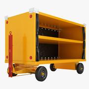 Carrinho de bagagem do aeroporto 09 3d model