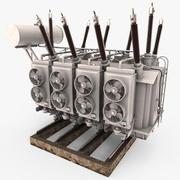 电源变压器 3d model