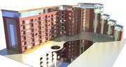 Un hôtel 3d model
