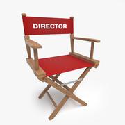 董事木椅 3d model