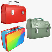 Metal Lunch Box Collection 01 3d model