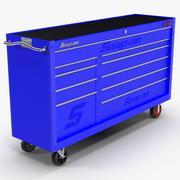 Gereedschapsopslag Blauw 3d model