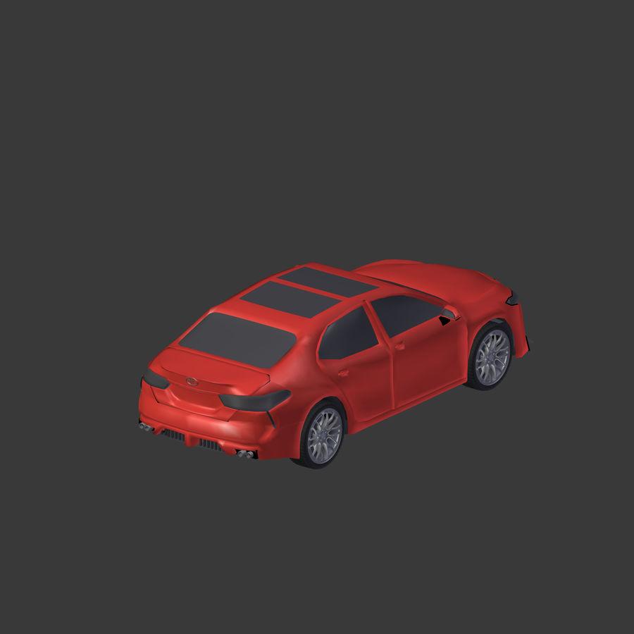 토요타 캠리 2018 royalty-free 3d model - Preview no. 17