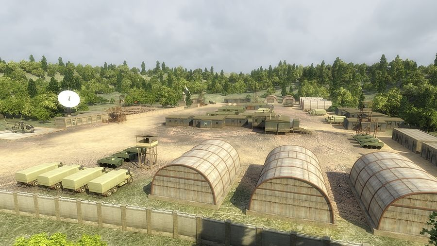 Camp militaire royalty-free 3d model - Preview no. 4