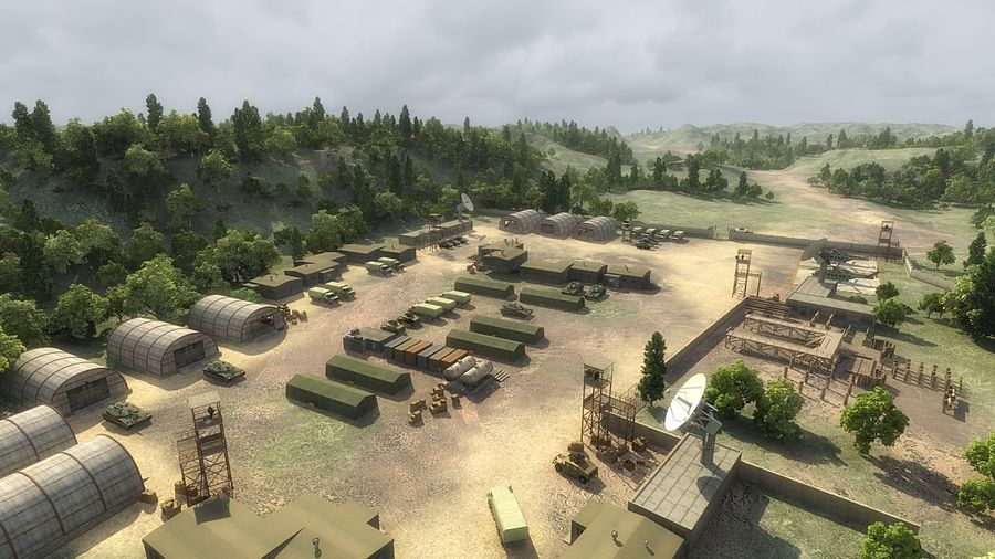 Camp militaire royalty-free 3d model - Preview no. 1