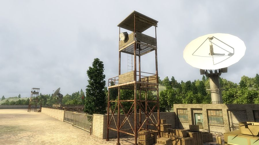 Camp militaire royalty-free 3d model - Preview no. 7